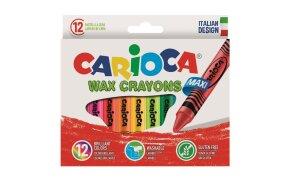 CARIOCA WAX MAX CRAYONS 12pcs